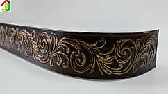 Лента декоративная, Бленда Премьер 112 Чёрное Золото потолочный карниз КСМ 68 мм, усиленный потолочный карниз