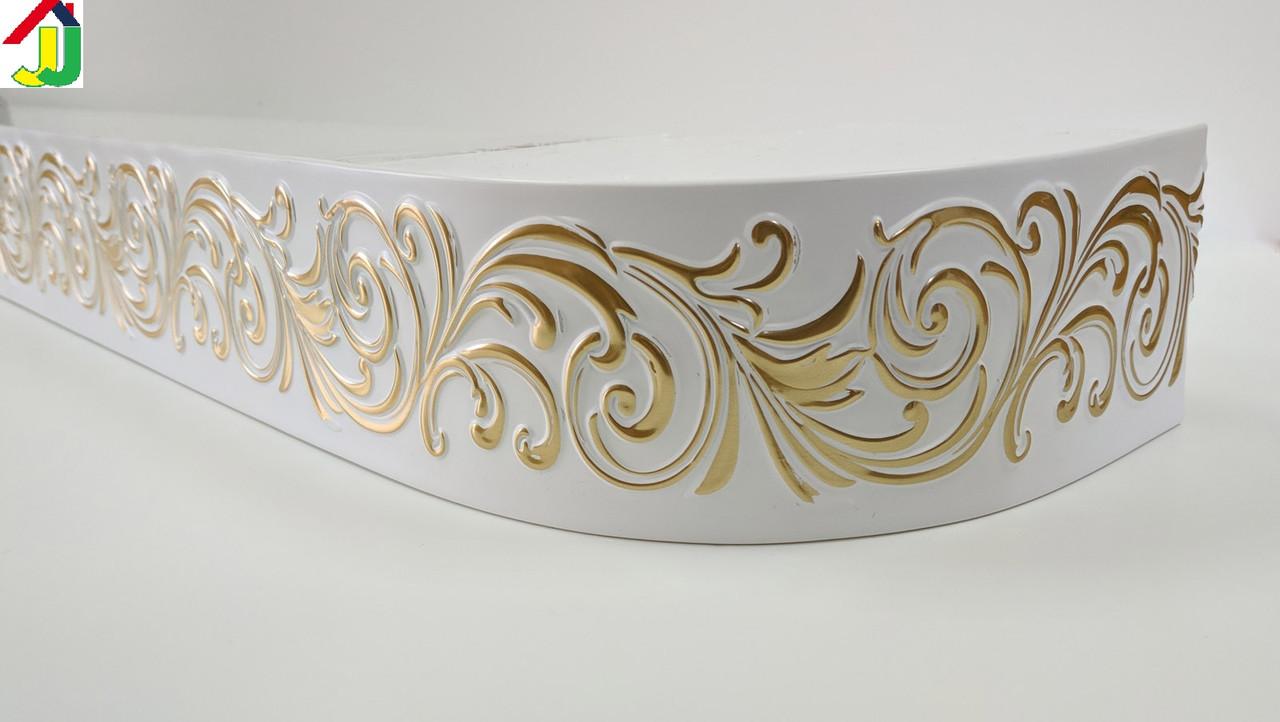 Лента декоративная, Бленда Премьер 01 Золото на потолочный карниз КСМ 68 мм, усиленный потолочный карниз