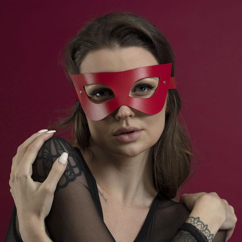 Маска Feral Fillings - Mistery Mask натуральная кожа Красная