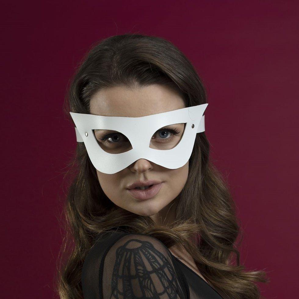 Маска Feral Fillings - Mistery Mask натуральная кожа Белая