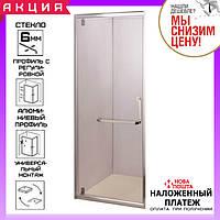 Душевая дверь в нишу 80 см распашная Aquastream Door 80 стекло прозрачное, фото 1
