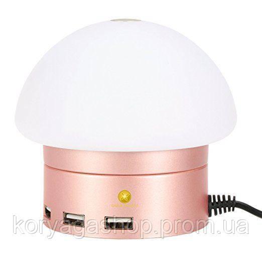 Сетевое зарядное устройство AWEI C910 LED lamp with 6 USB ports Rose Gold
