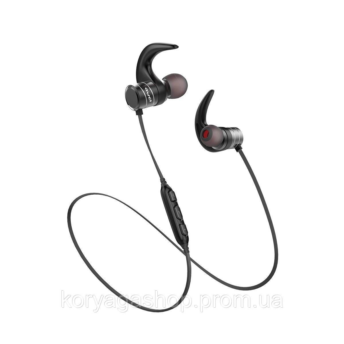 Bluetooth Наушники Awei AK1 Magnetic Control Black