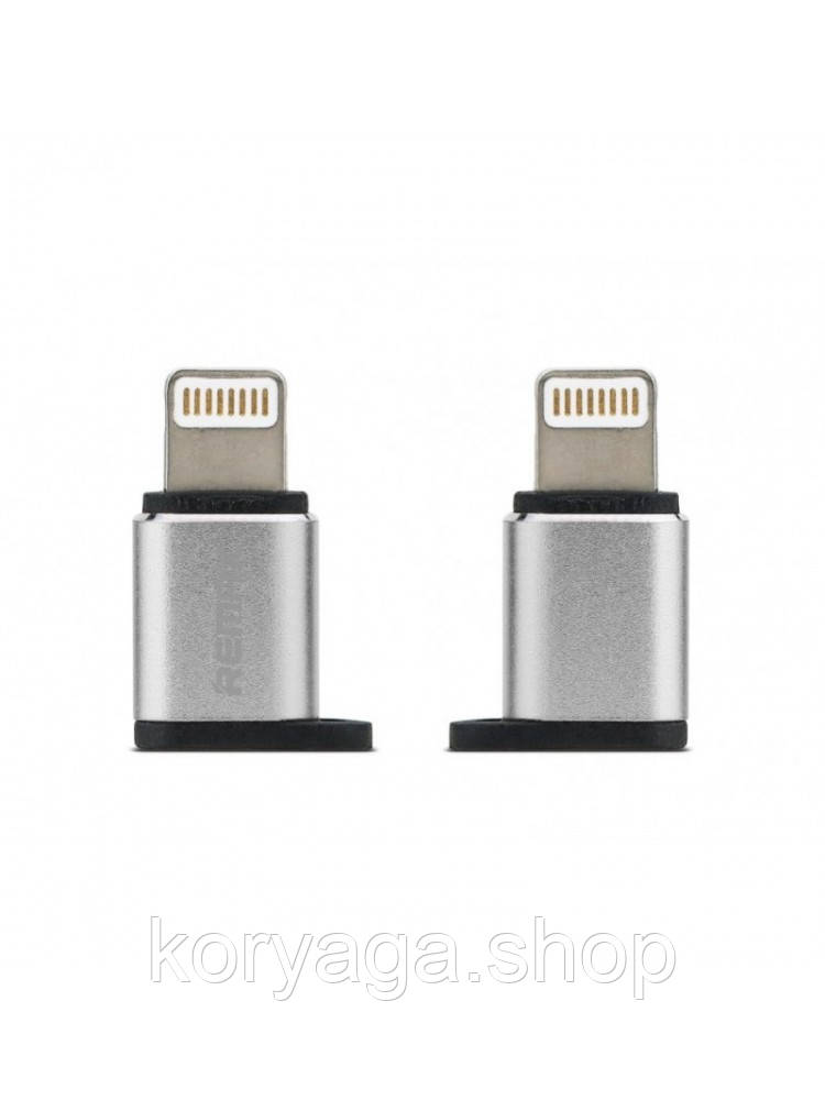 Переходник Remax Visual RA-USB2 MicroUSB to lightning Silver