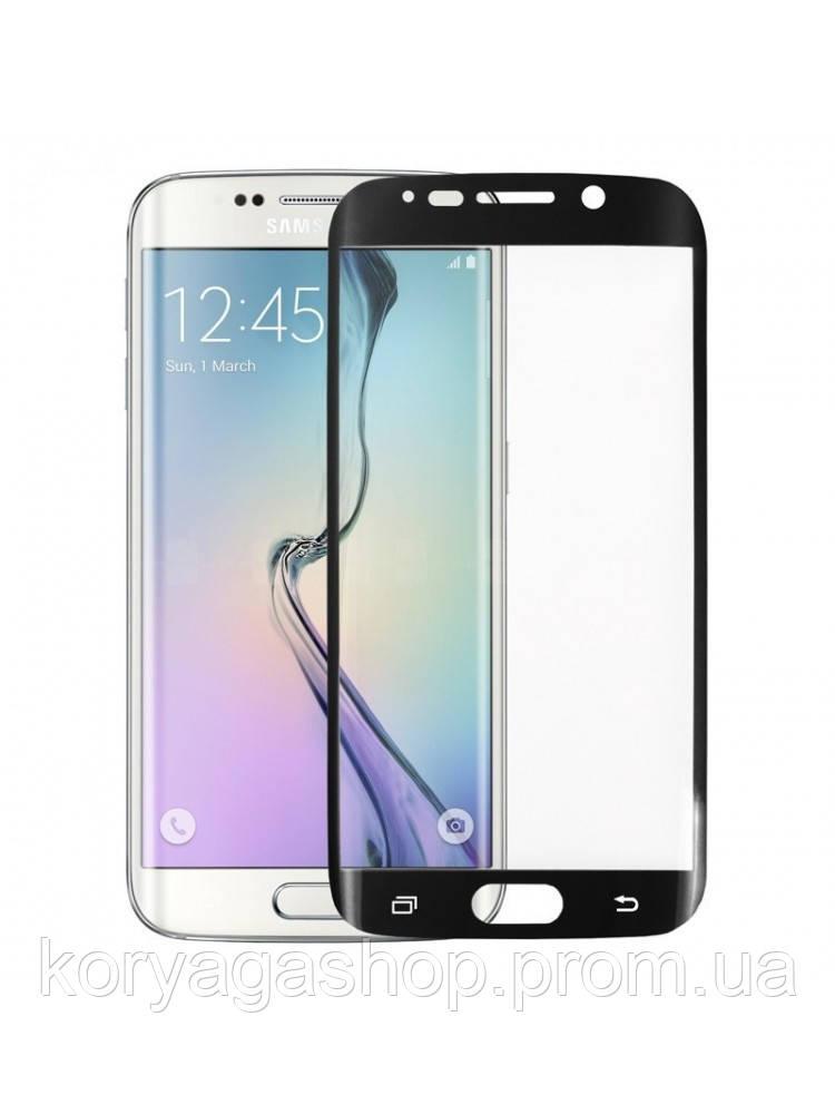 Защитное стекло Full Cover для Samsung Galaxy S7 Edge с изогнутыми краями Черное