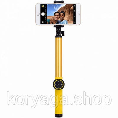 Селфи-монопод Momax SelfieHero 150cm with Bluetooth Black/Yellow (KMS8D)