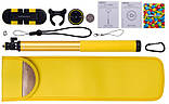 Селфи-монопод Momax SelfieHero 150cm with Bluetooth Black/Yellow (KMS8D), фото 4