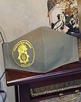 Маска багаторазова захисна з емблемою Національної гвардії України. Вишивка будь-якого зображення