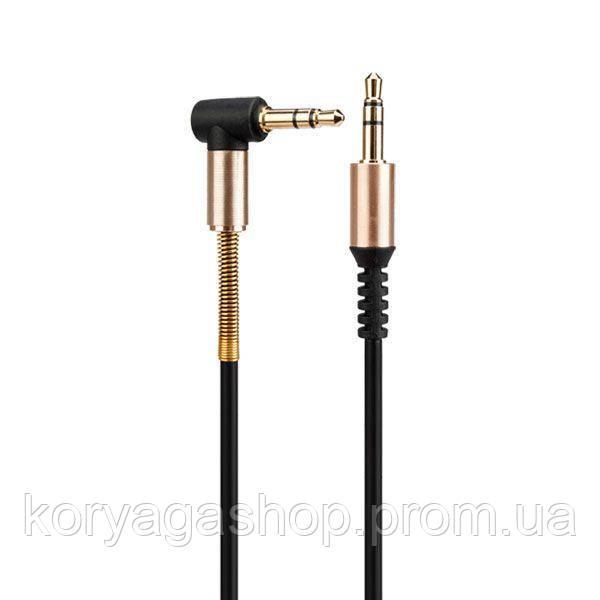 Кабель Hoco UPA02 AUX Spring audio 1m Black