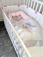 Кокон-гнездышко с одеялком Veres Unicorn love