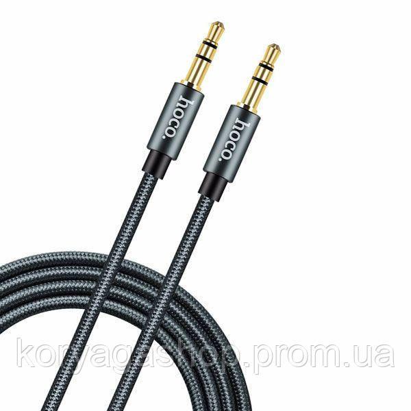 Кабель Hoco UPA03 Noble sound series AUX audio Black