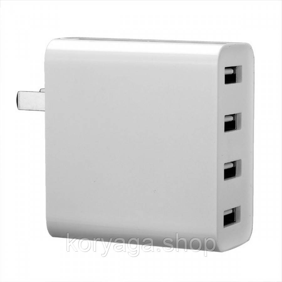 Сетевое зарядное устройство Xiaomi Mi USB Multiple hub 4 USB White