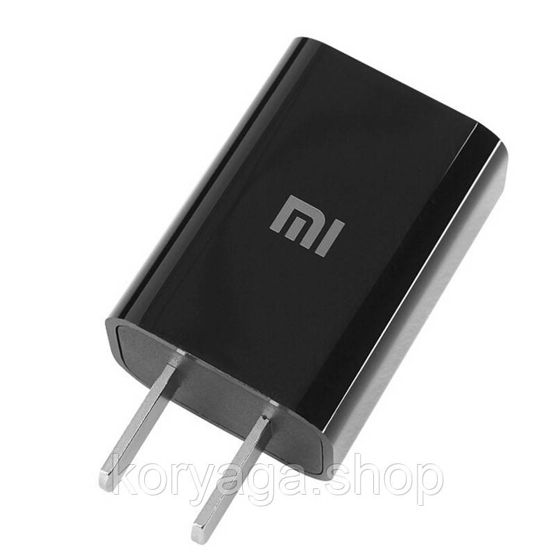 Сетевое зарядное устройство XIAOMI US (1USB, 1A) Black