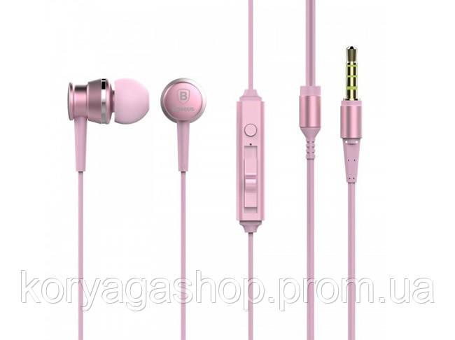 Наушники Baseus Lark Series Wired Sakura Pink