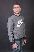 Мужской свитшот ( реглан ) Nike , серого цвета