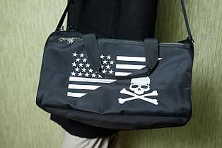 Мужская черная сумка Philipp Plein Air Force, ткань влагозащитная с пропиткой