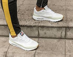 Мужские рефлективные кроссовки Nike Air Max 1 Ultra Moire белые