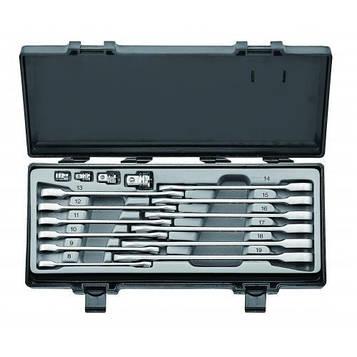 Набор рожково-накидных трещоточных ключей ,прямых+адаптеры 16 пред. (8-19 мм) Force 5164F