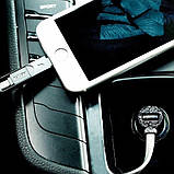 Автомобильное зарядное устройство Remax Finchy RCC103 + Lightning USB Cable (1USB 3.4A) Silver, фото 2