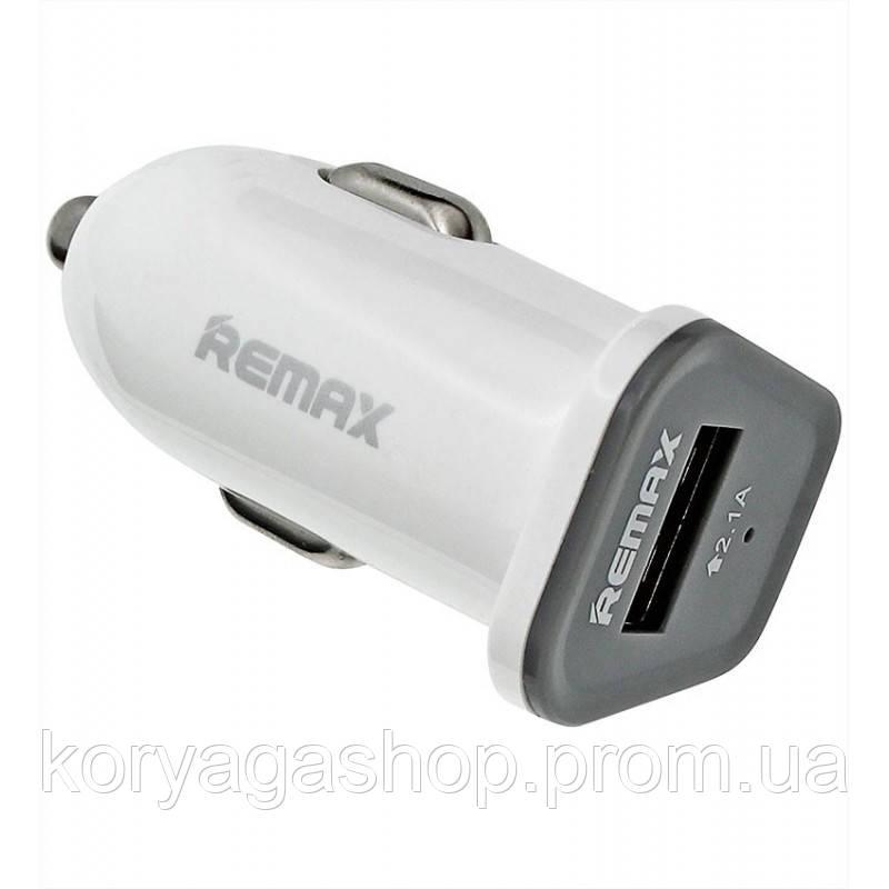 Автомобильное зарядное устройство Remax RCC-101 Mini (1USB 2.1A) White