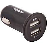 Автомобильное зарядное устройство Remax RCC-201 Mini (2USB 2.1A) Black, фото 2