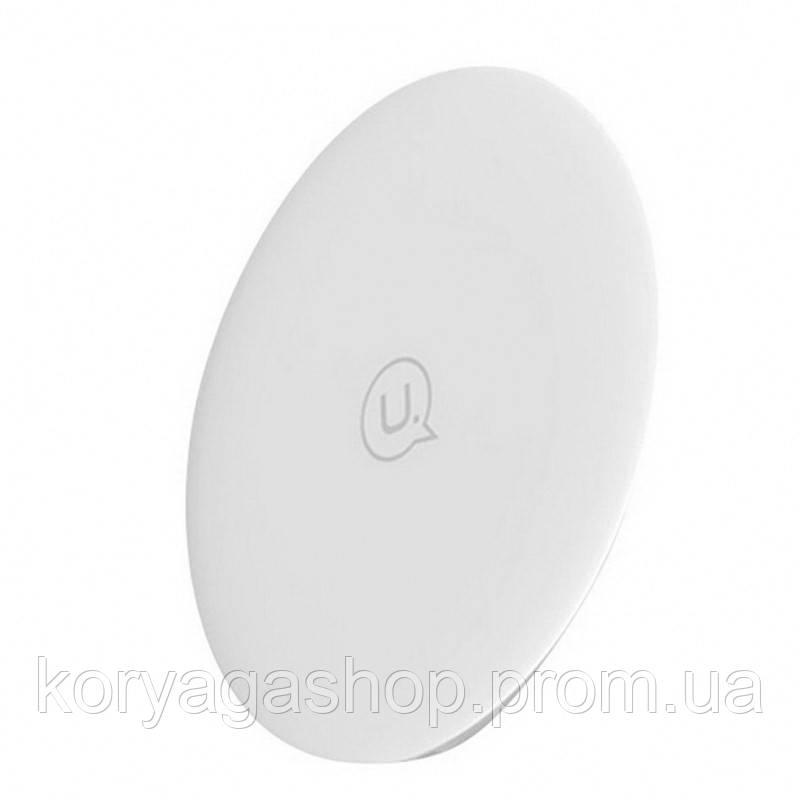 Беспроводное зарядное устройство Usams US-CD24 Wireless Fast Charging Pad  Boswell Series White