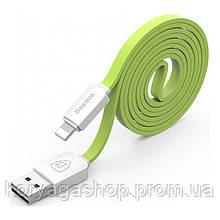 Кабель Baseus String Lightning 1M Green+White