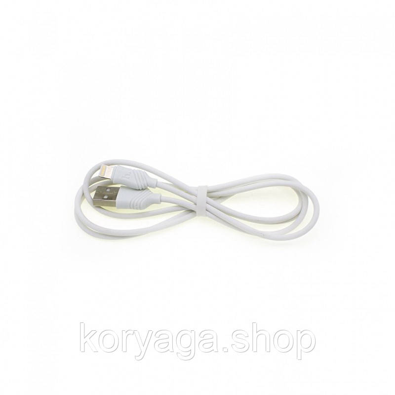 Дата кабель Hoco X6 Lightning для Apple iPhone 5/5s/SE/6/6 Plus/6s/6s Plus /7/7Plus (100см) White