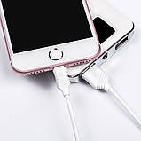 Дата кабель Hoco X6 Lightning для Apple iPhone 5/5s/SE/6/6 Plus/6s/6s Plus /7/7Plus (100см) White, фото 3