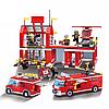 Конструктор Пожарная тревога Пожарная часть и техника Brick 911 980 деталей, фото 2