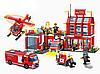 Конструктор Пожарная тревога Пожарная часть и техника Brick 911 980 деталей, фото 3