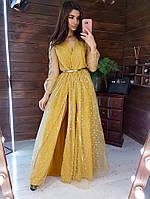 Вечернее длинное платье женское пышное