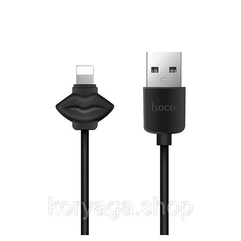 Кабель USB Hoco X17 Showy Lightning iPhone Black
