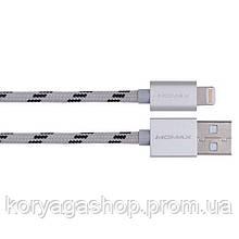 Кабель Momax Elite Lightning Cable 1M Silver