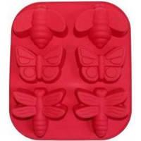 Силиконовая форма для выпечки и десертов Бабочки Стрекозы на 6 ячеек