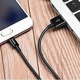 Кабель USB Hoco X23 Micro USB Black, фото 2