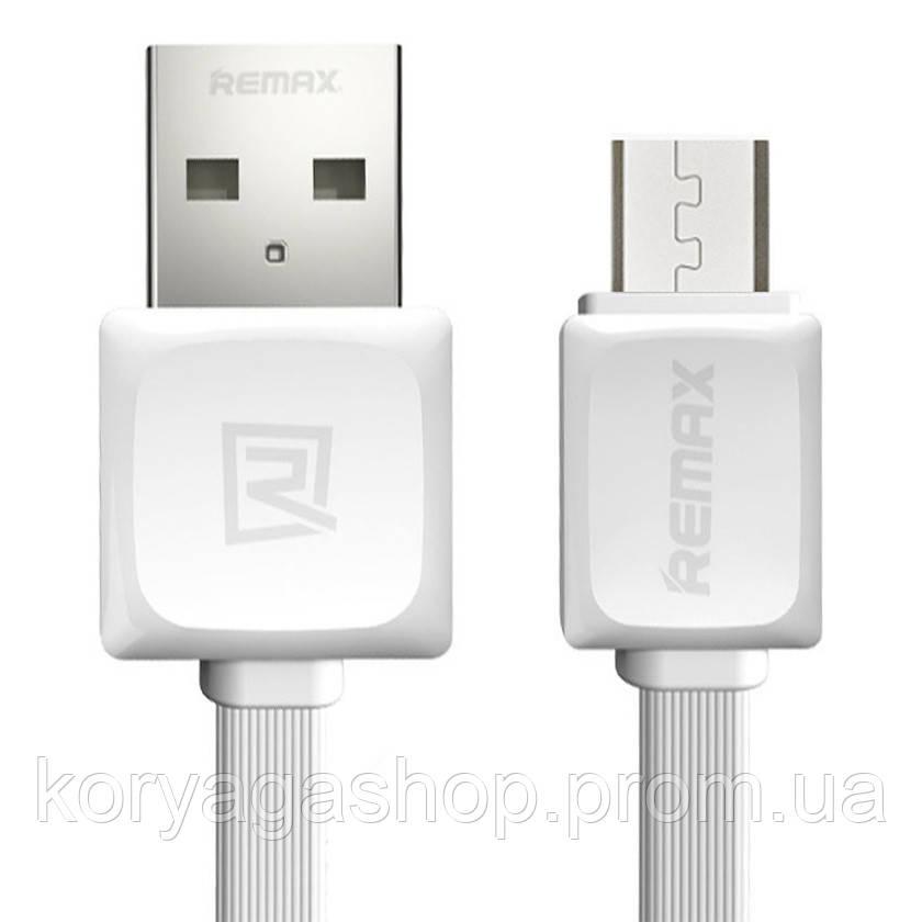 Кабель Remax RC-008m Fast Data Micro-USB 1M White