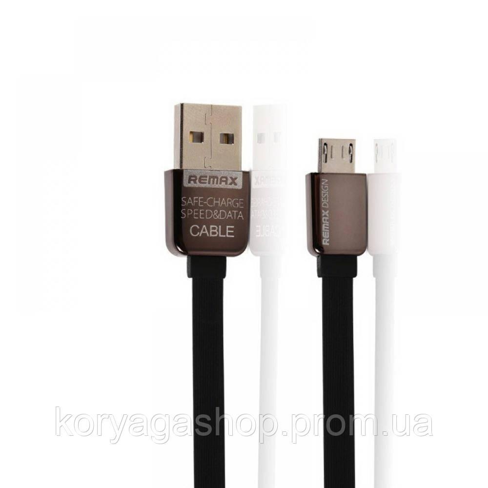 Кабель Remax Kingkong Micro USB flat Black