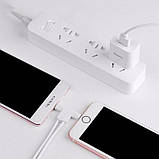 Кабель 2in1 Hoco X12 One Pull Two L Shape Magnetic Absorption  Lightning+Micro White, фото 2