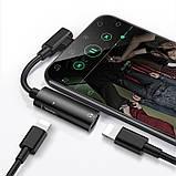 Переходник Hoco LS18 Dual Lightning audio converter Lightning-Lightning Black, фото 3