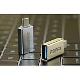 Переходник Remax USB(F) to Type-C (M) RA-OTG1 Gold, фото 3