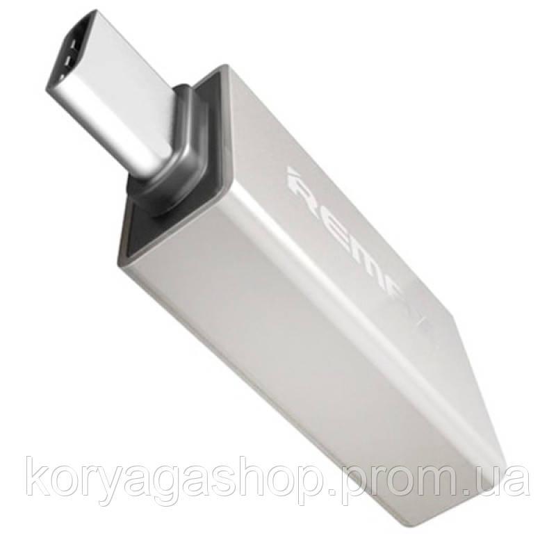 Переходник Remax USB(F) to Type-C (M) RA-OTG1 Silver
