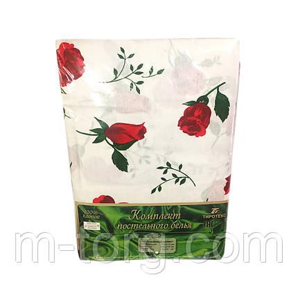 """""""Красные розы"""" Комплект постельного белья двуспальный 178*215 см 100%хлопок Tiratex Тирасполь, фото 2"""