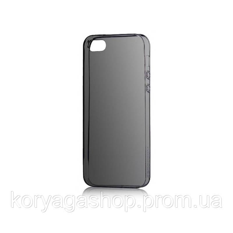 Чехол-накладка Hoco TPU case Light series with Finger Holder iPhone 5/5S Black