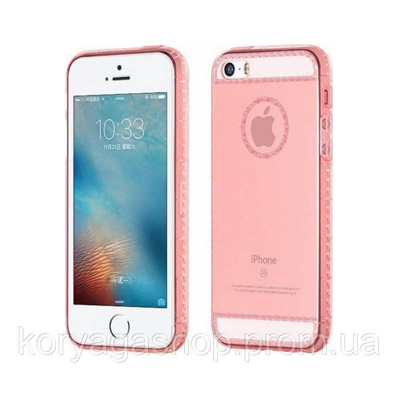 Чехол Hoco Ice Crystal series для iPhone 6/6S Rose Gold