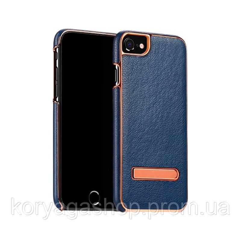 Чехол-накладка Hoco Platinum series litchi grain fiber для iPhone 7 Plus Deep Blue