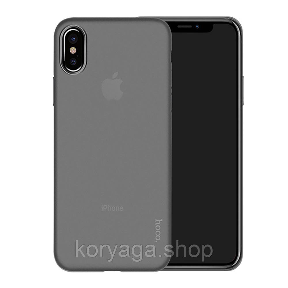 Чехол накладка Hoco Ultra-Thin Series PP Back Cover для Apple iPhone X Black