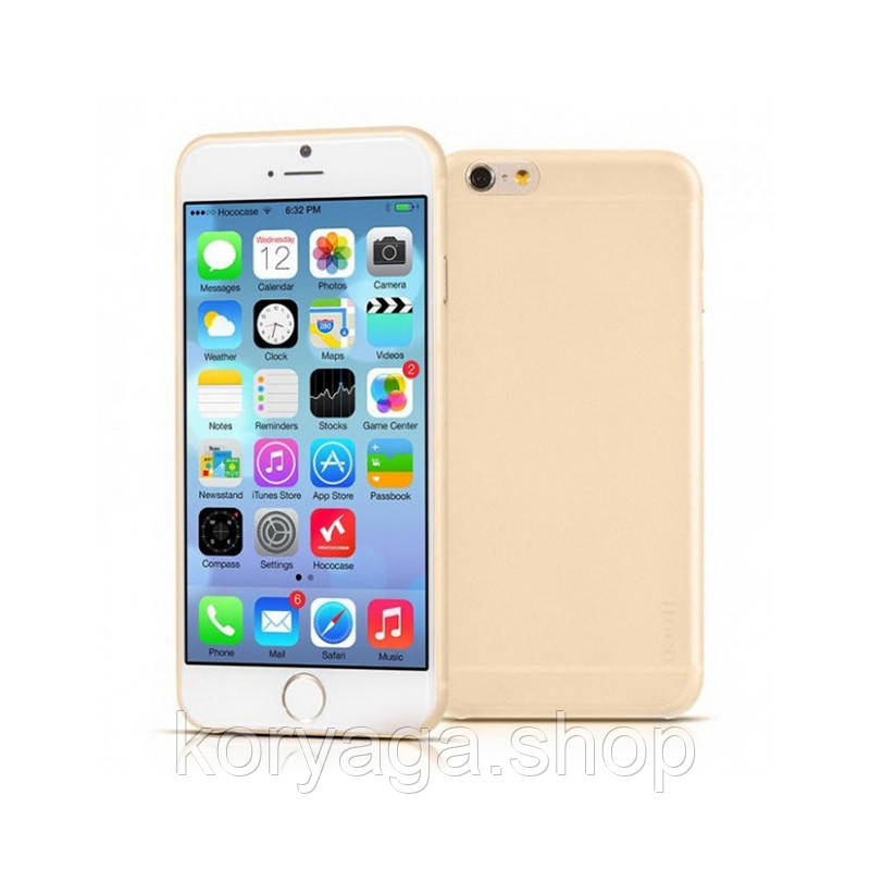Чехол накладка Hoco Ultra-Thin Series PP Back Cover для Apple iPhone 6/6S Gold