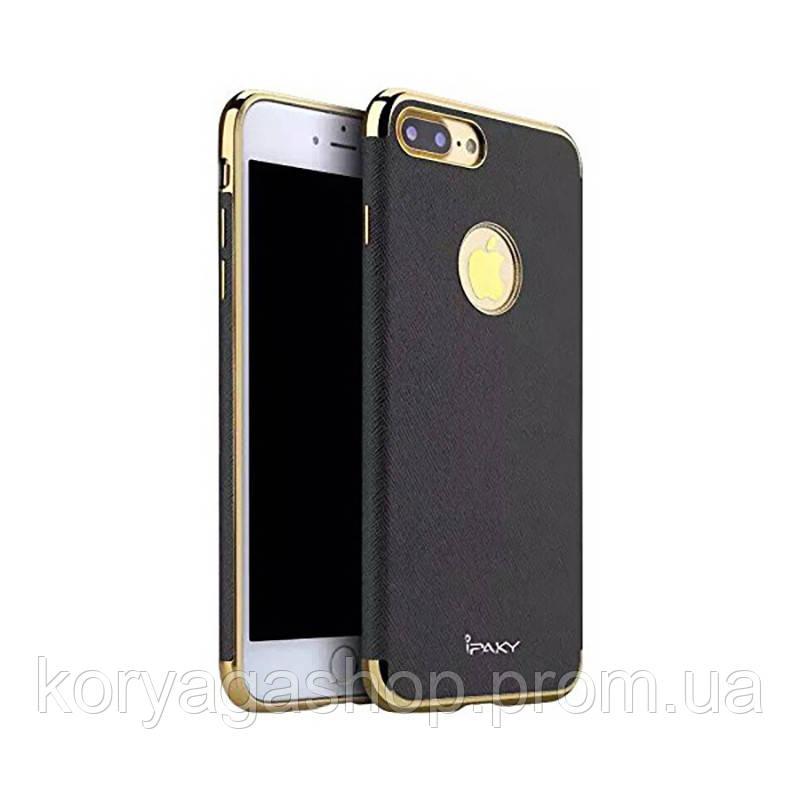Чехол-накладка Ipaky Chrome connector + Leather Back case iPhone 7 Plus Black