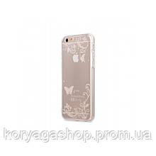 Чехол-накладка Melkco Nation TPU Batterfly для iPhone 6/6S Transparent